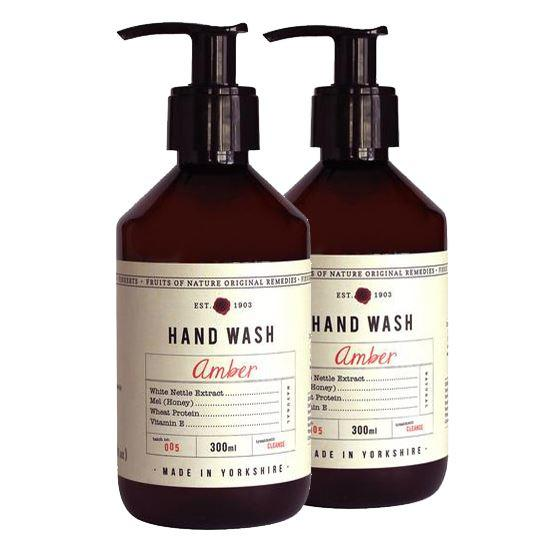 Fikkerts Luxury Wooded Amber & Citrus Hand Wash Twin Pack
