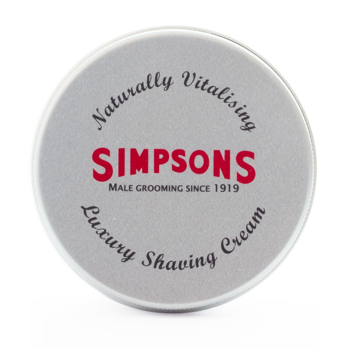 Simpsons Luxury Peppermint & Rosemary Shaving Cream