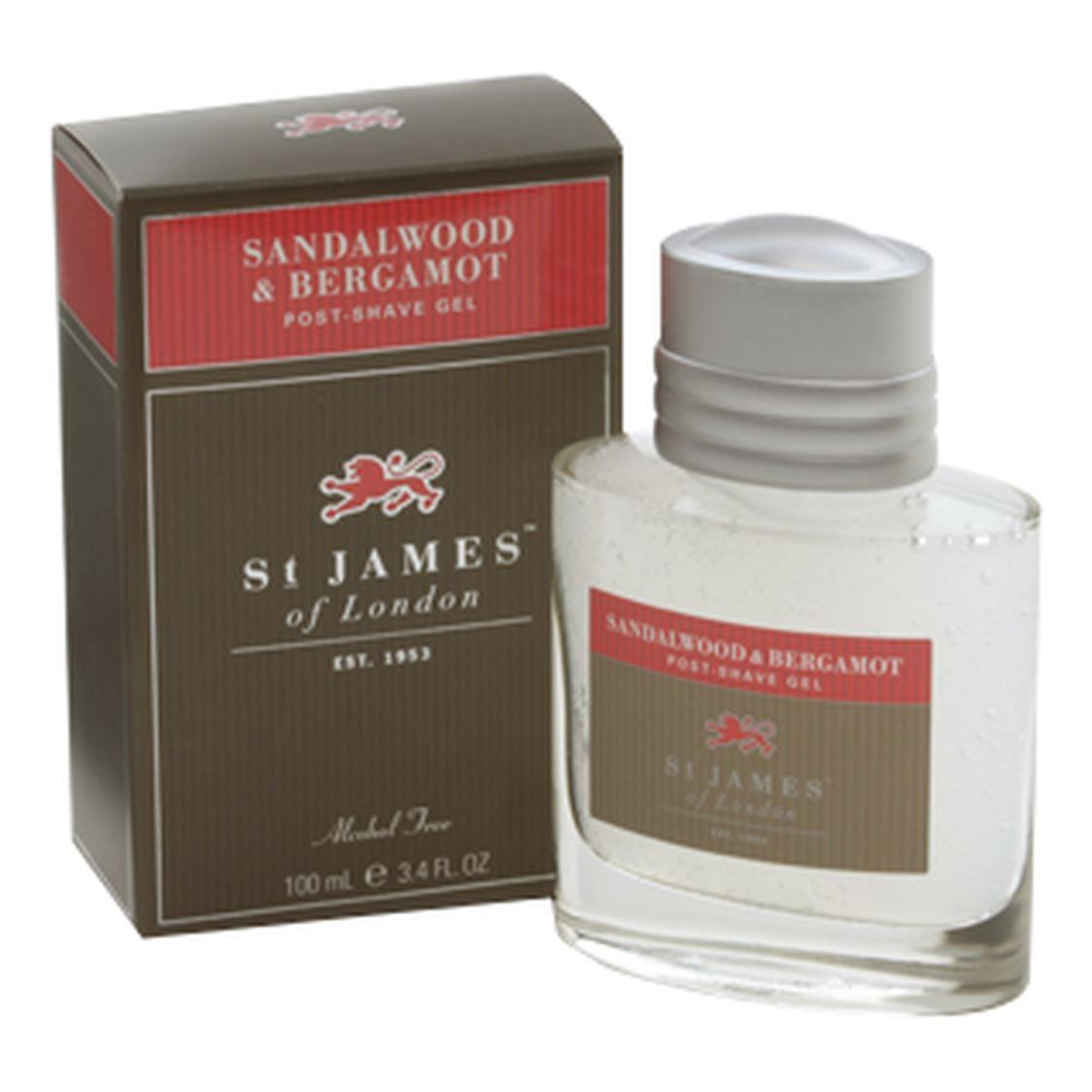 St James of London Sandalwood & Bergamot Large Post-Shave Gel