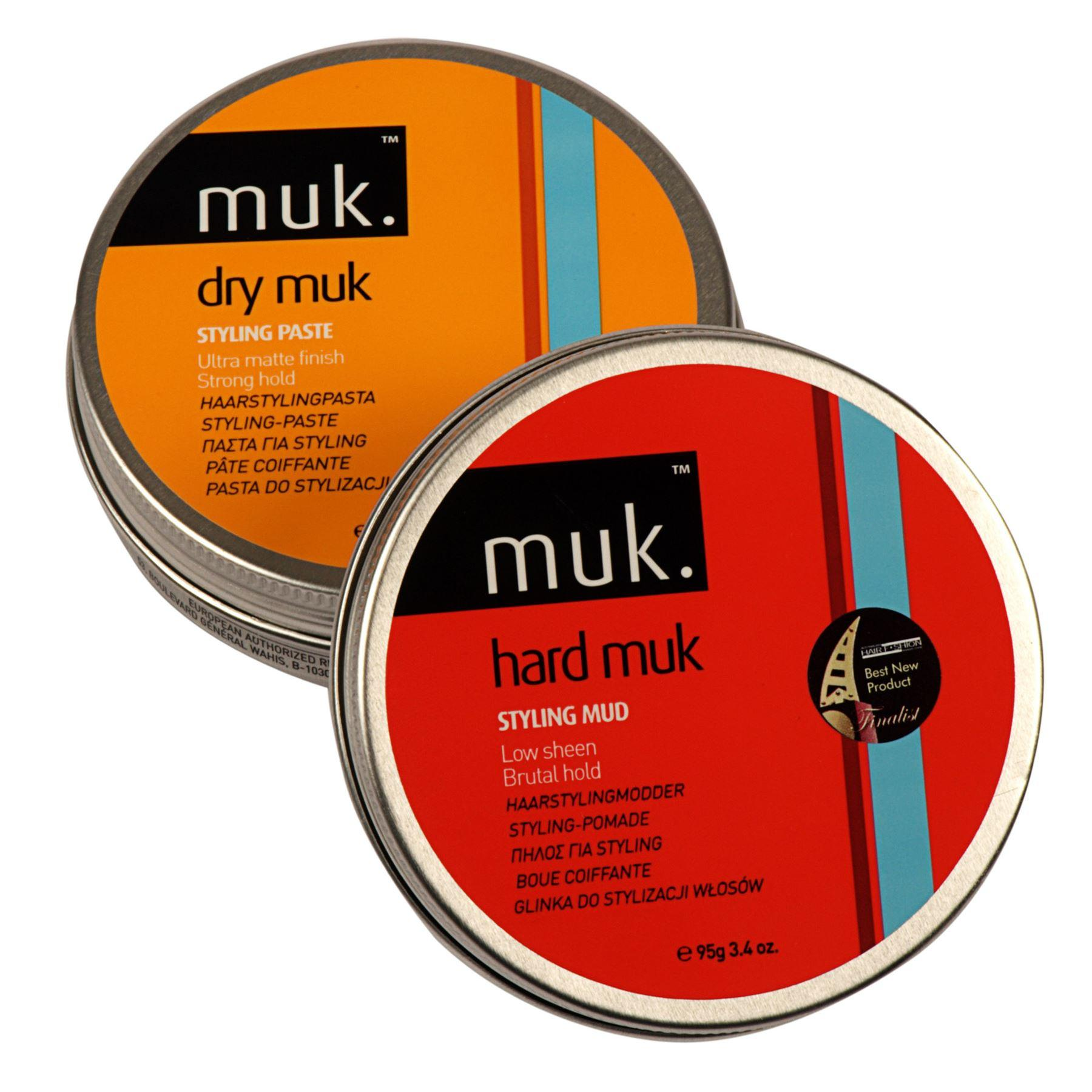 Hard MUK & Dry MUK Large Hair Styling Combo Pack