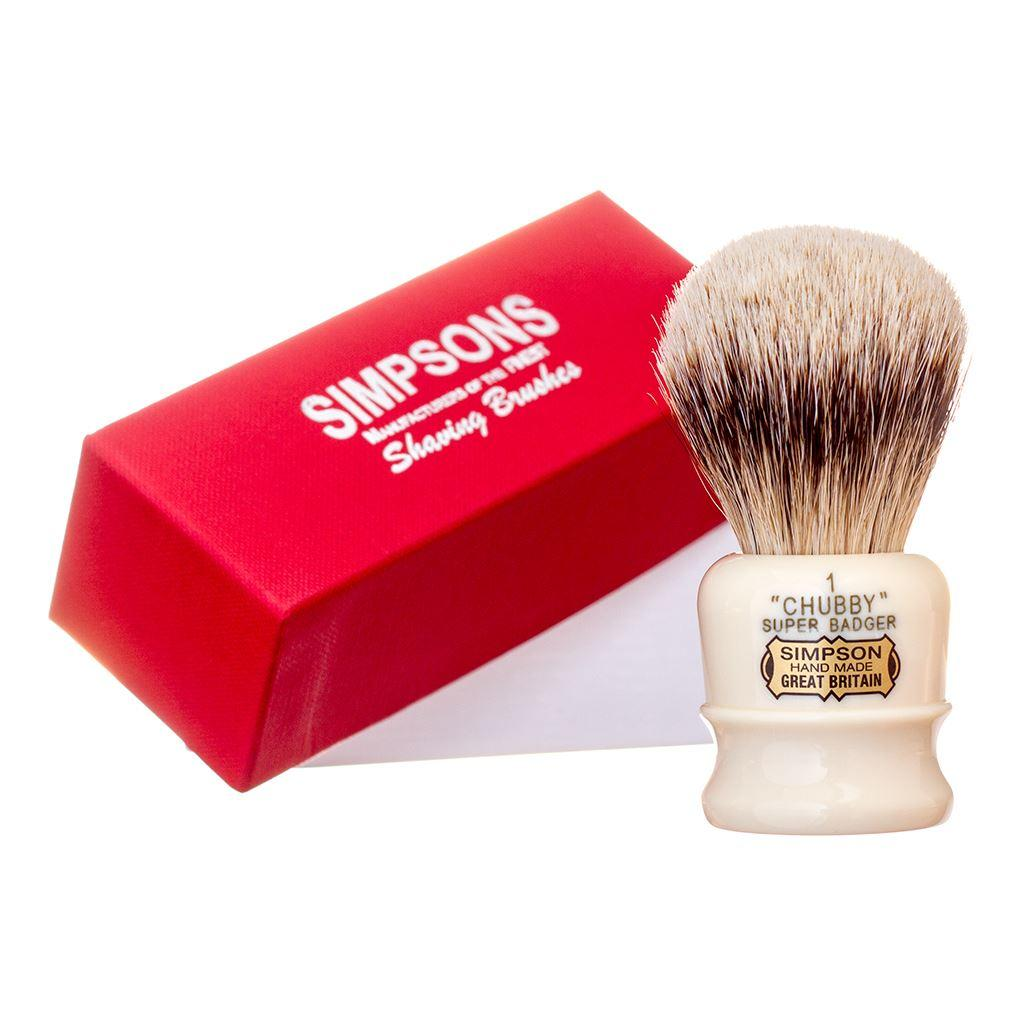 Simpsons Chubby CH1 Super Badger Hair Shaving Brush