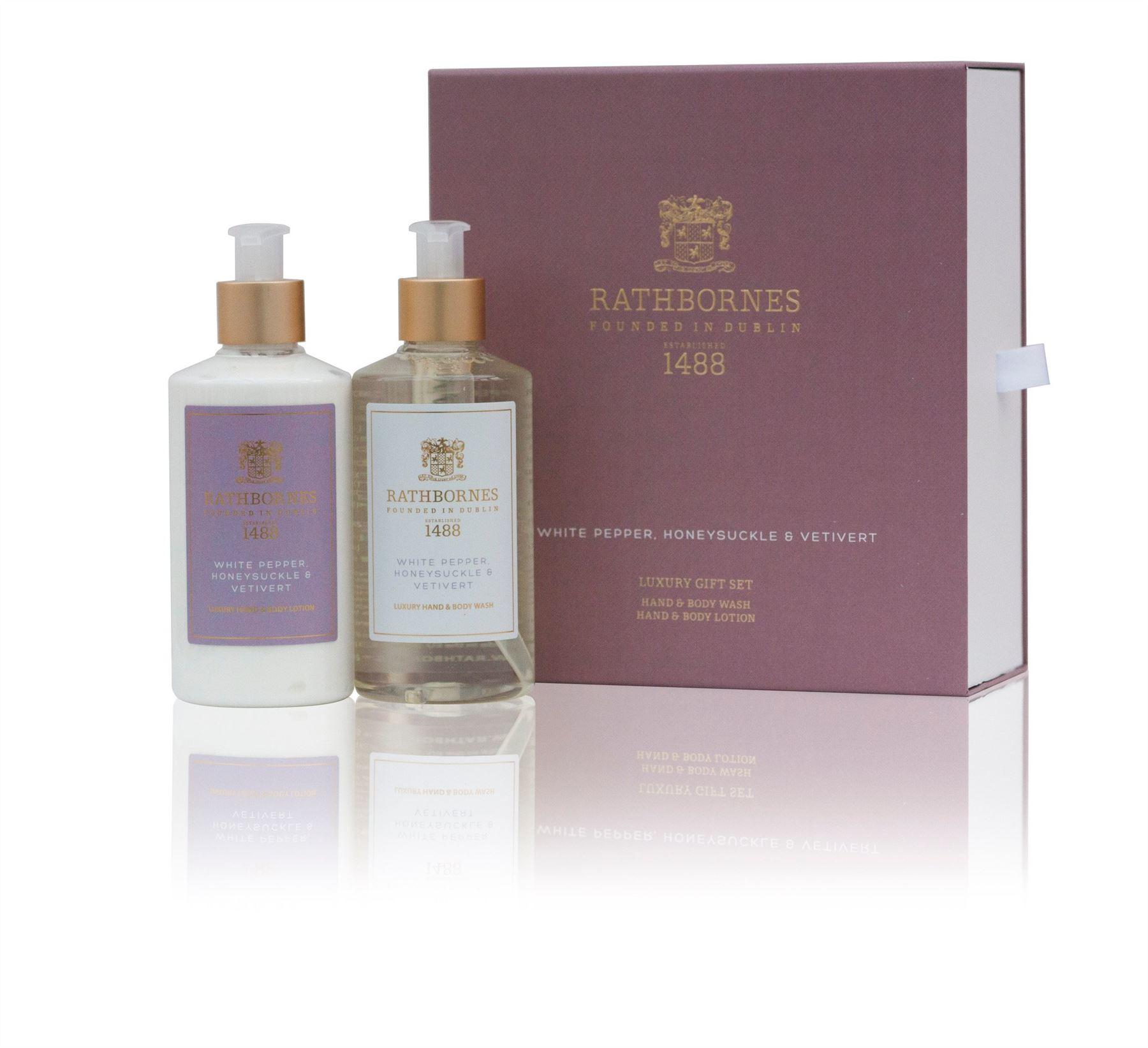 Rathbornes 1488 White Pepper Hand & Body Gift Set (Hand/Body Wash & Lotion)