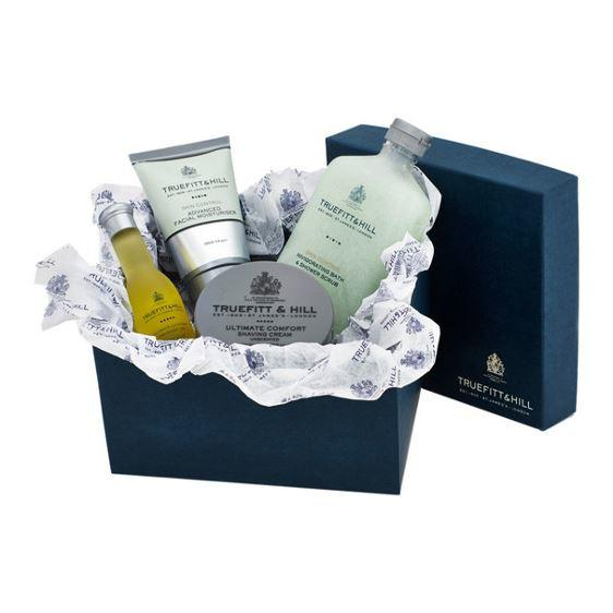 Truefitt & Hill Ultimate Ultimate Comfort Shaving Gift Set (Cream, Balm, Oil & Scrub)