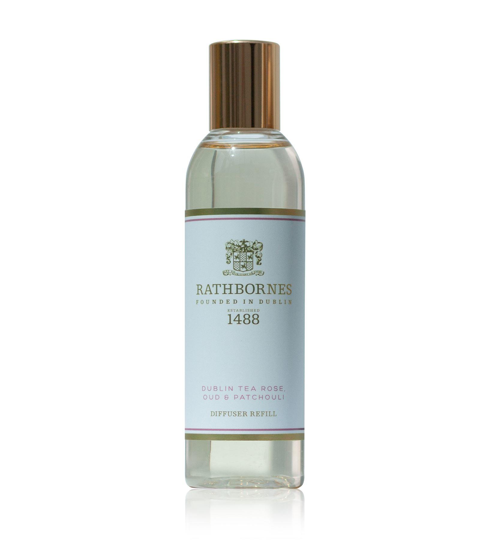 Rathbornes 1488 Dublin Tea Rose, Oud & Patchouli Reed Diffuser Refill Oil