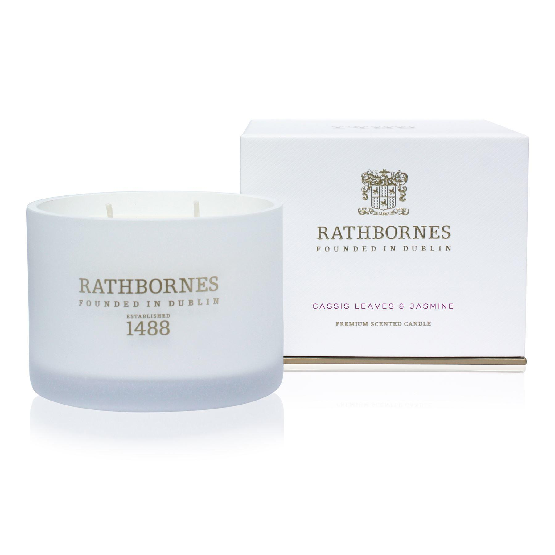 Rathbornes 1488 Cassis Leaves & Jasmine Classic 2 Wick Candle