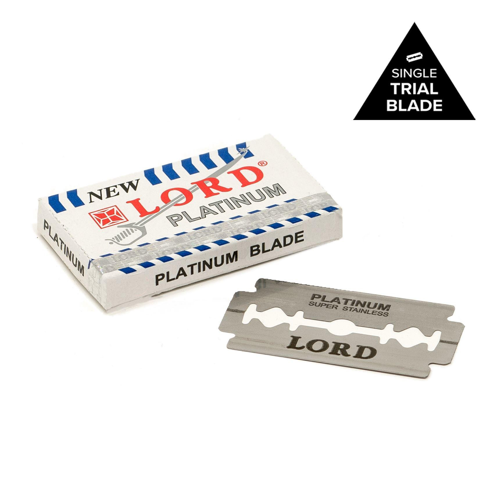 Lord Co Platinum Class Double Edge Sample Razor Blade