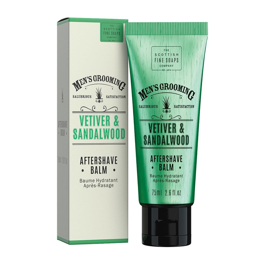 Scottish Fine Soaps Vetiver & Sandalwood Aftershave Balm (75ml)