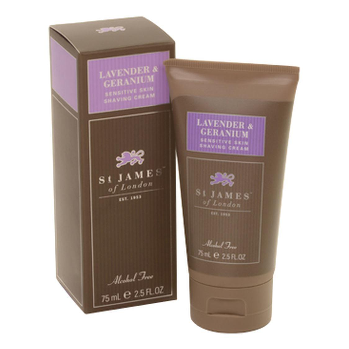 St James of London Unscented, Lavender & Geranium Shaving Cream Tube