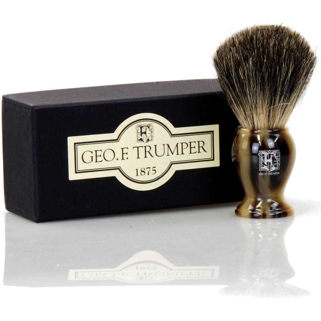 Geo F Trumper Simulated Horn Pure Badger Bristle Shaving Brush