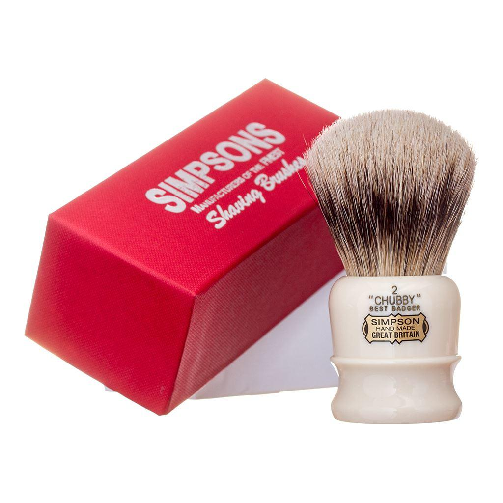 Simpsons Chubby CH2 Best Badger Hair Shaving Brush