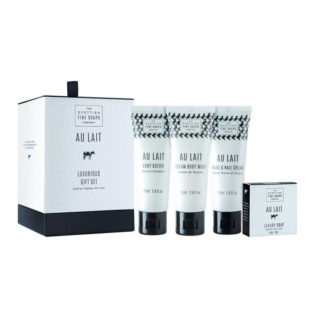 Scottish Fine Soaps Au Lait Luxurious Gift Set Drum