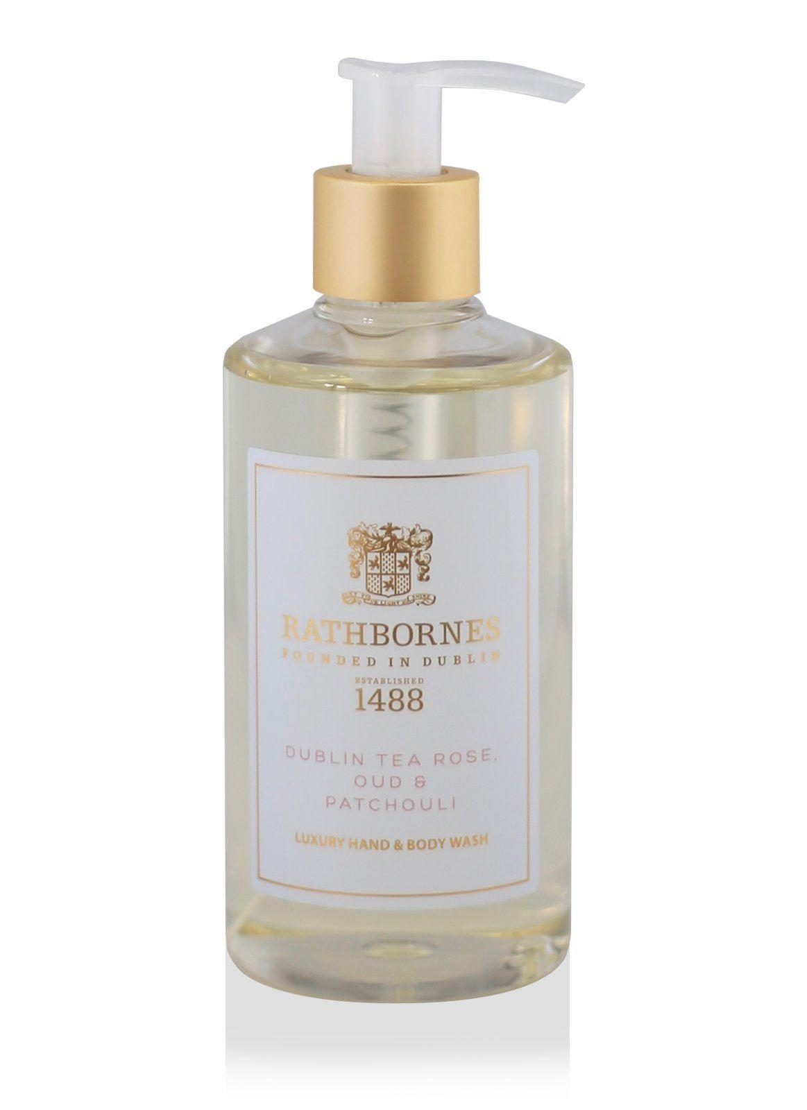 Rathbornes 1488 Dublin Tea Rose, Oud and Patchouli Hand & Body Wash
