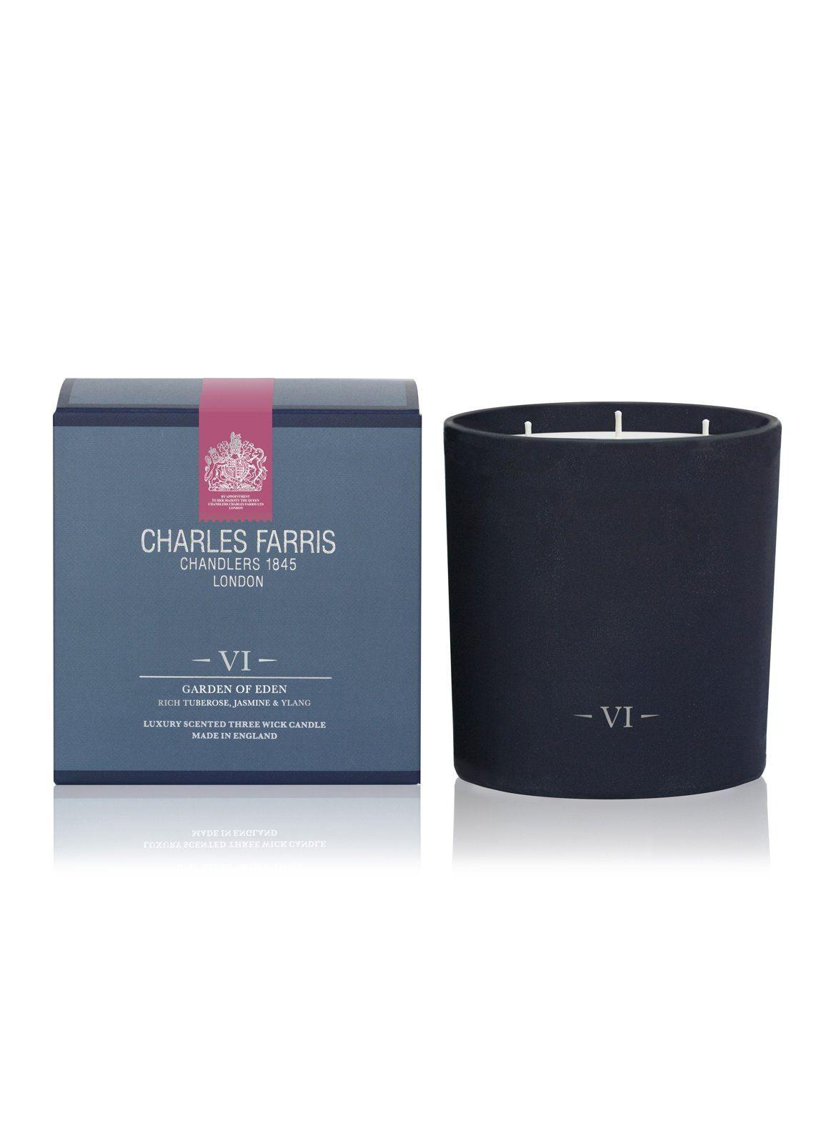 Charles Farris Garden of Eden 3 Wick Candle