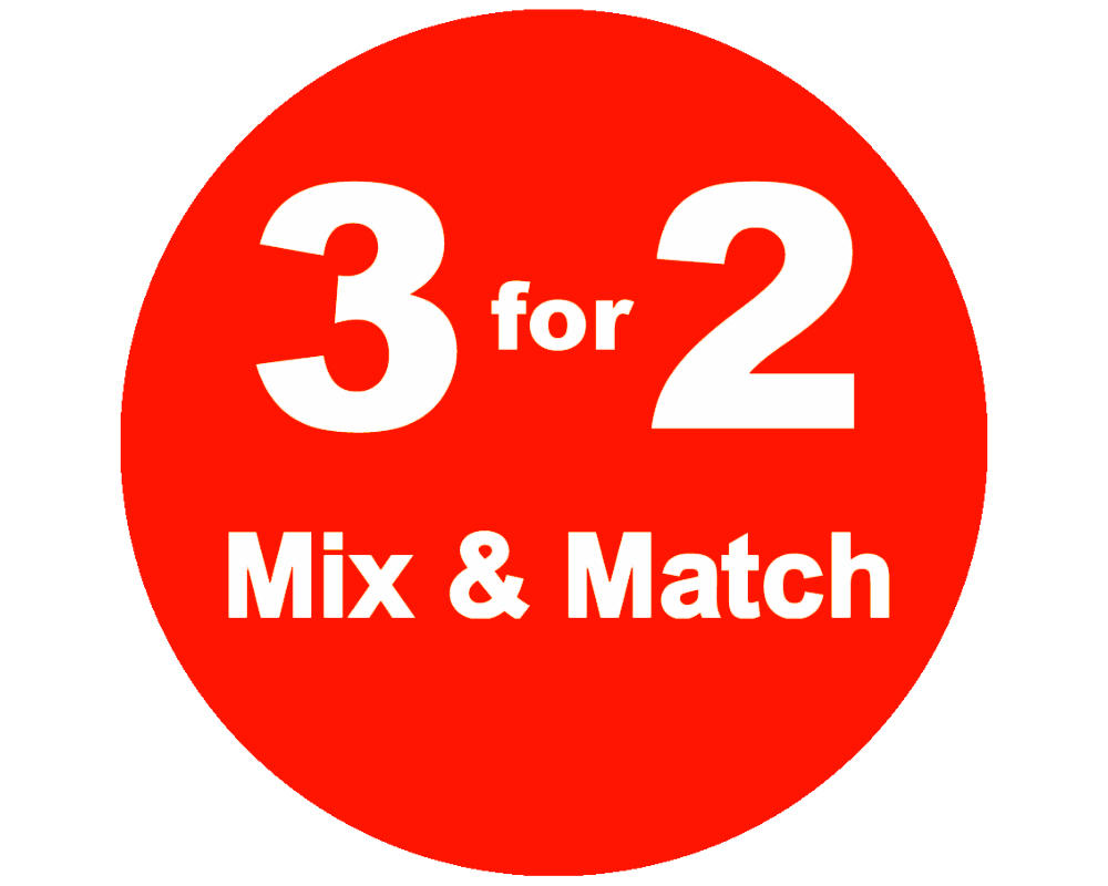 3 for 2 on selected e-liquids