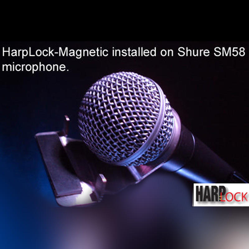 MAGNETIC HARMONICA HOLDER BY HARPLOCK