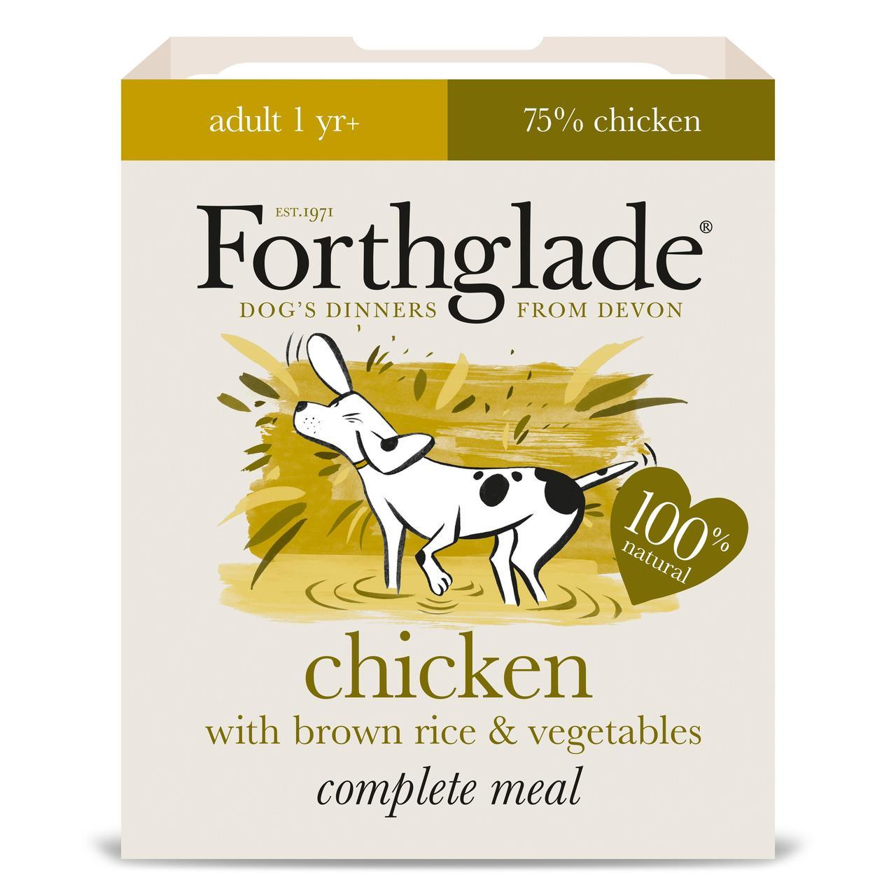 Forthglade Complete Adult Chicken with Brown Rice & Vegetables