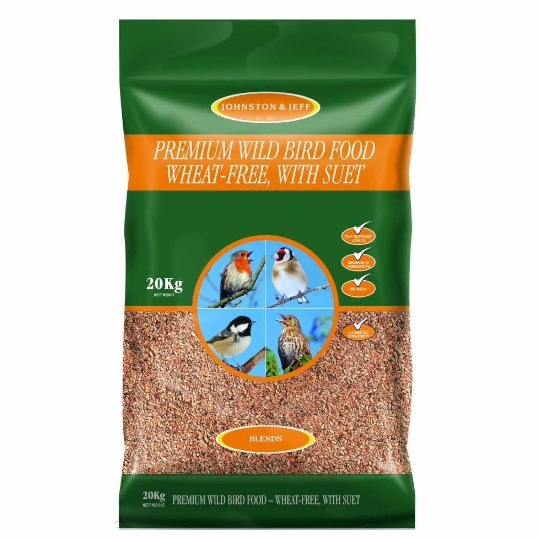 Johnson & Jeff Bird premium wild bird food with suet