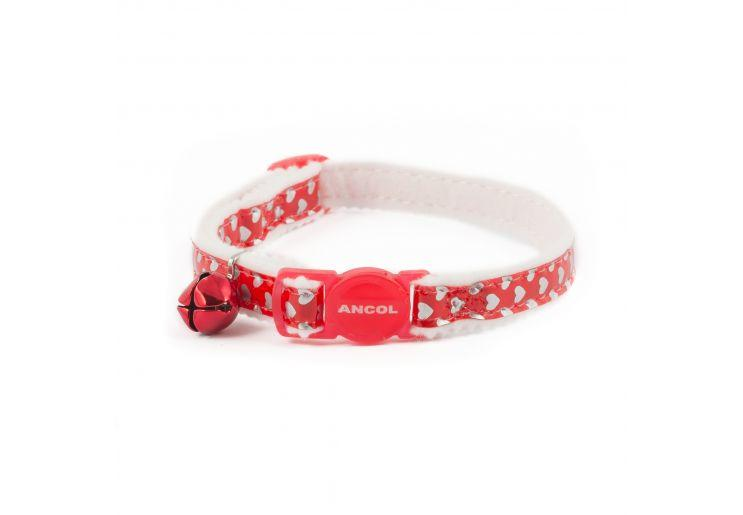 Ancol Red Hearts Cat Collar