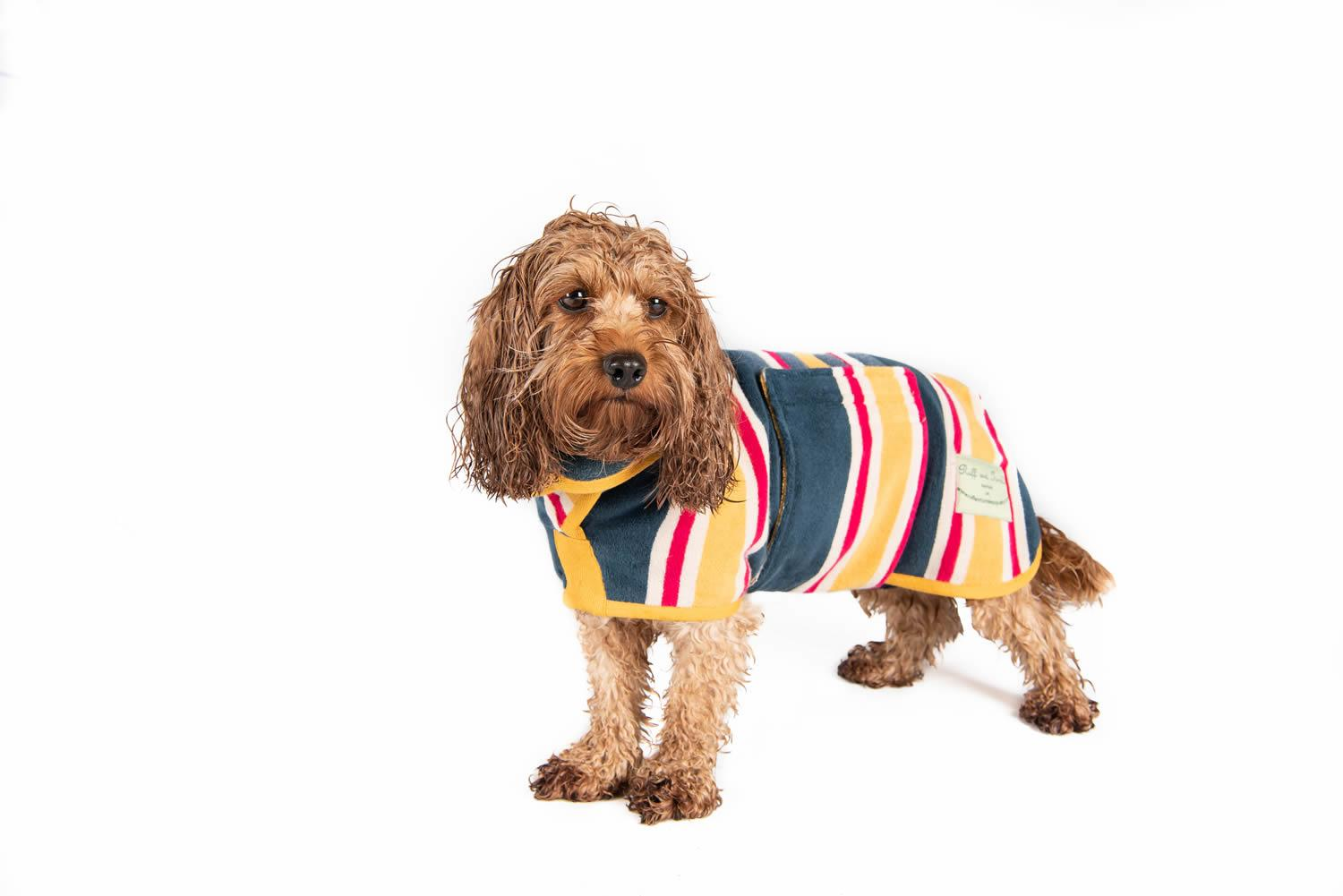 Ruff and tumble Drying Coat Beach Design