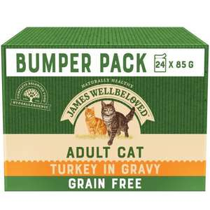 James Wellbeloved Adult Cat Grain Free Pouches with Turkey in Gravy