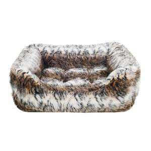 Rosewood Square fur print bed