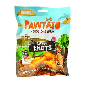 benevo pawtato large sweet potato and rice knots
