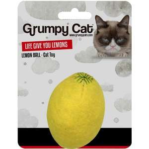 Grumpy Cat Lemon Ball cat toy