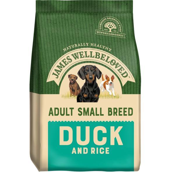 James Wellbeloved Adult Small Breed Duck and Rice 1.5kg