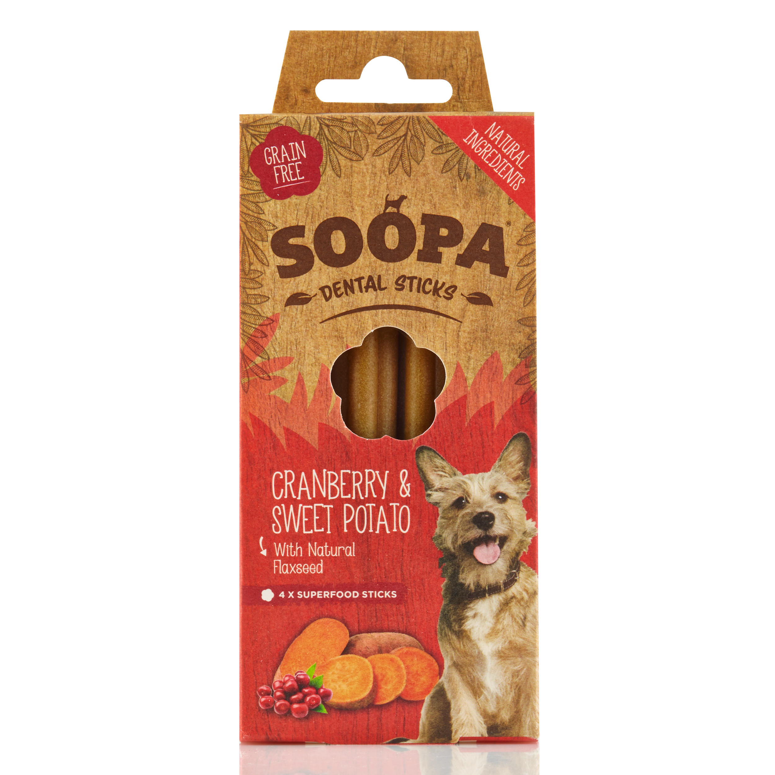 Soopa Cranberry and Sweet Potatot Dental Stick