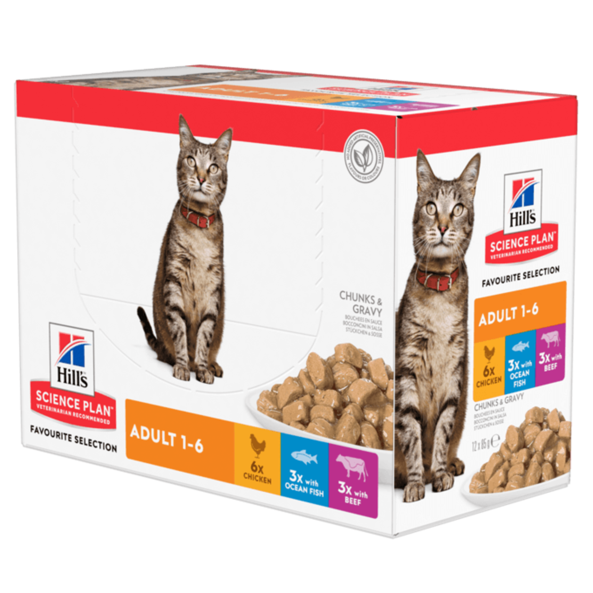 Hill's Science Plan Adult Multipack Pouches Wet Cat Food (12x 85g)