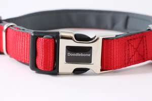 Doodlebone Red Padded Collar