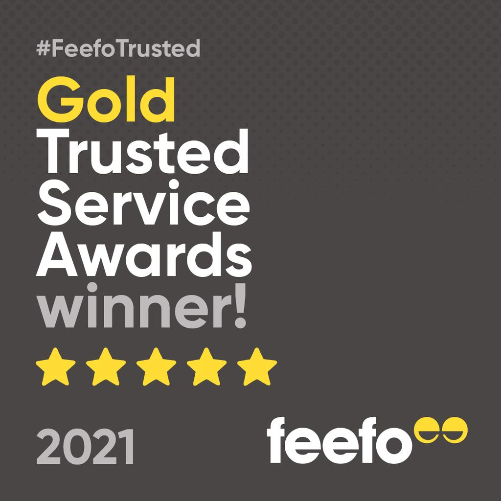 Feefo Gold Trusted Services Award 2021