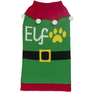Santas Elf Green dog Jumper, front