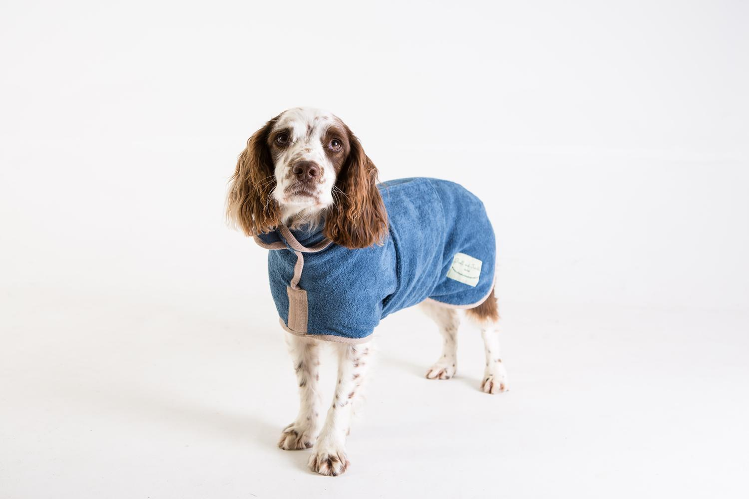 Classic Sandringham Blue dog Drying Coat