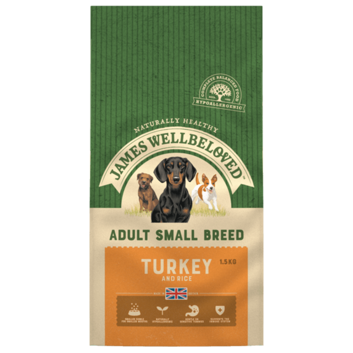 James Wellbeloved Adult Small Breed Turkey and Rice