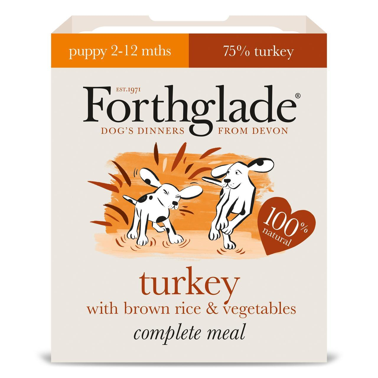 Forthglade Complete Puppy Turkey with Brown Rice & Vegetables