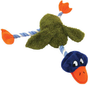 Delia duck rope dog toy