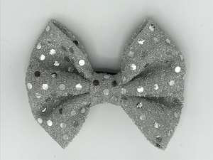 Silver Bow tie for dogs