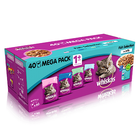whiskas fish selection mega pack