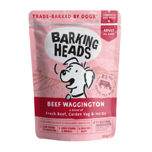 Barking Heads Beef Wagginton Pouches Grain Free