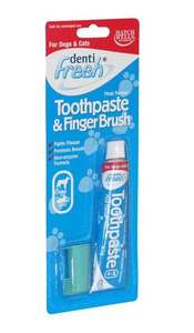 dentifresh toothpaste starter kit for dogs and cats