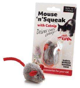 Mouse 'n' Squeak with Catnip Toy