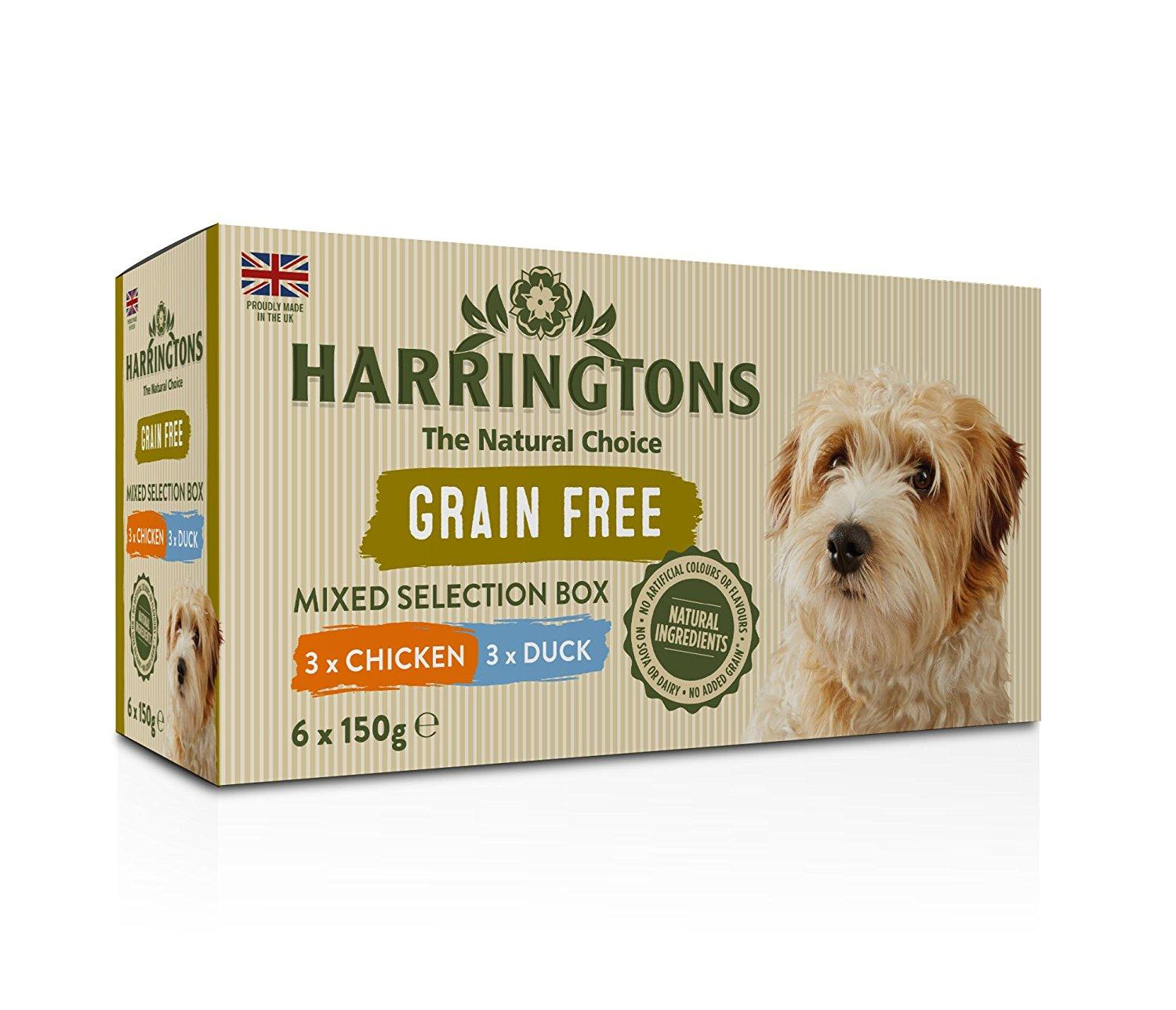 Harringtons Wet Mixed Pack Dog Food Trays 6 x 150g