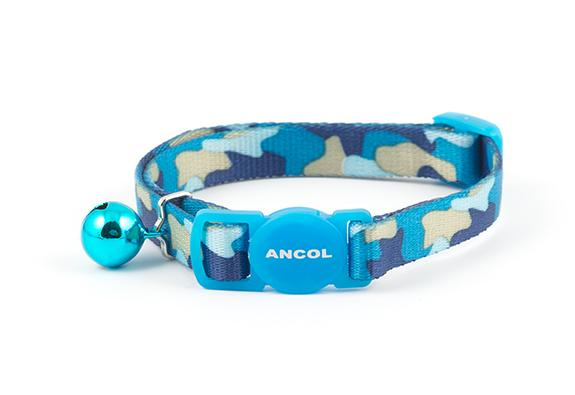Blue Camouflage Cat collar