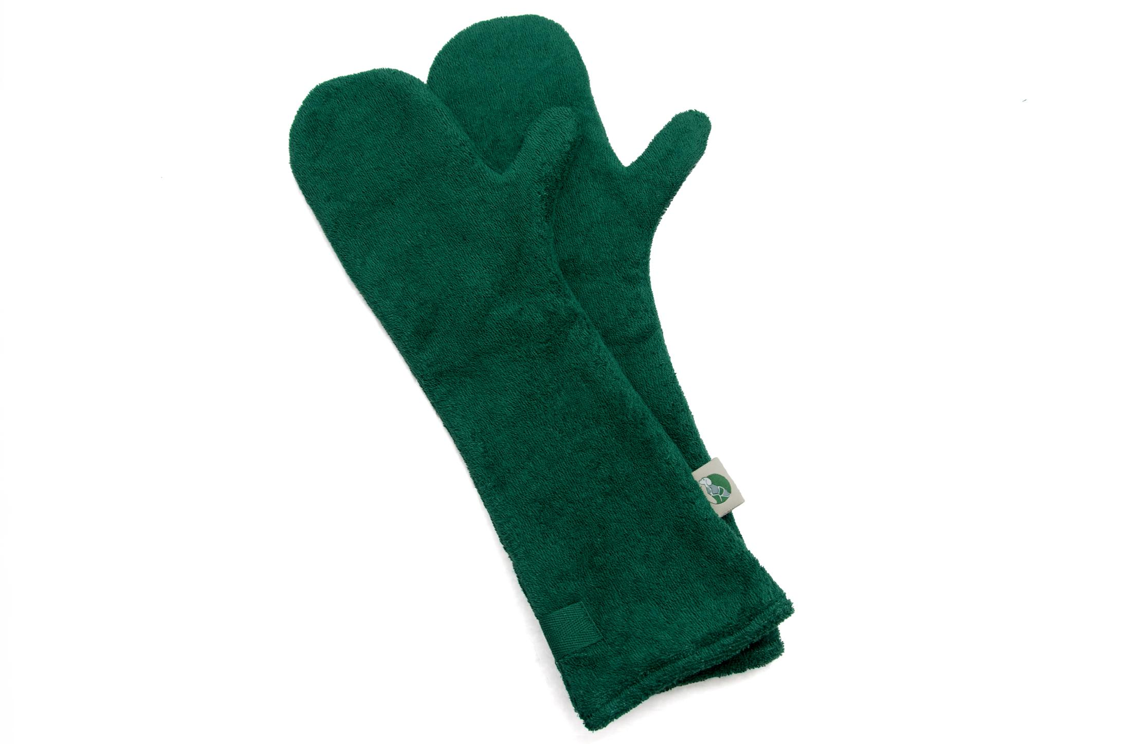 Green Drying Mitts