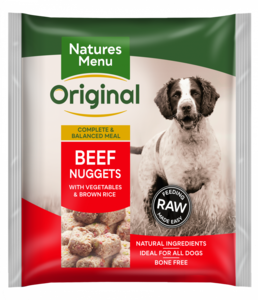 nature's menu beef nuggets
