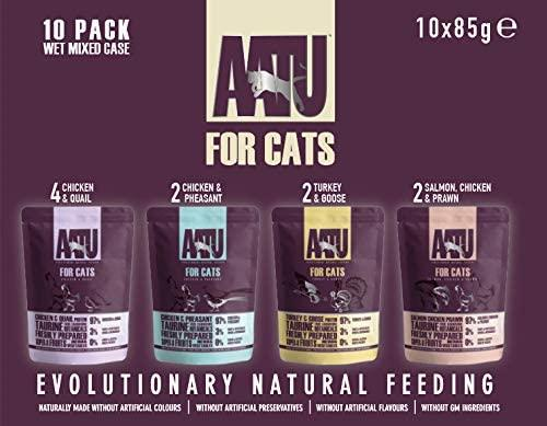 AATU Adult Cat Food Wet Pouches Mixed Pack