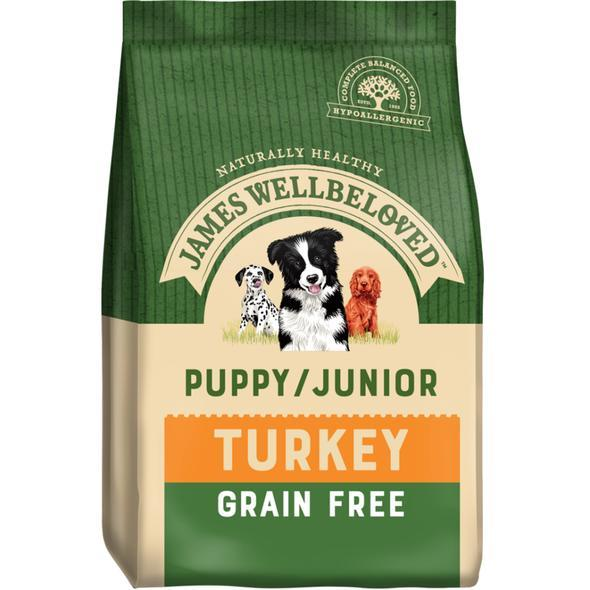 James Wellbeloved Puppy Grain Free Turkey & Vegetables 1.5kg