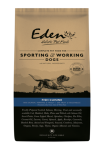 Eden fish working dog food