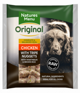 Nature's Menu Chicken & Tripe Bite Size Nuggets 1kg